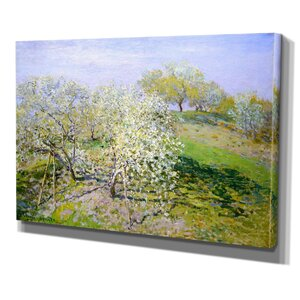 Apple Trees in Bloom by Vincent Van Gogh Print of Painting on Wrapped Canvas by Wexford Home