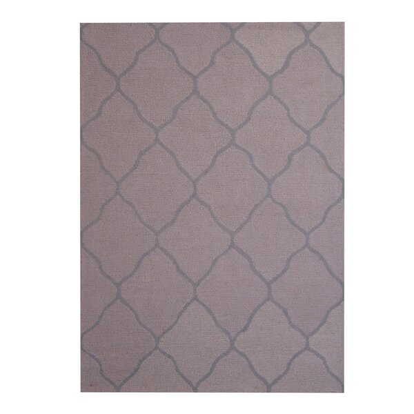 Hand-Tufted Beige/Gray Indoor Area Rug by Herat Oriental