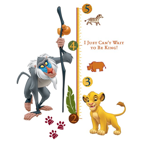 Disney The Lion King Growth Chart Wall Decal by Wallhogs