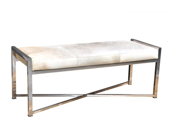 Gideoon Leather Bench by Everly Quinn
