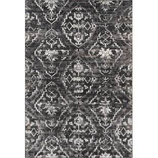 Ronin Charcoal Area Rug by Bungalow Rose