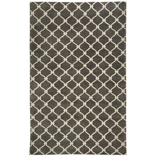 Cococozy Light Charcoal / Ivory Picket Area Rug by Capel Rugs