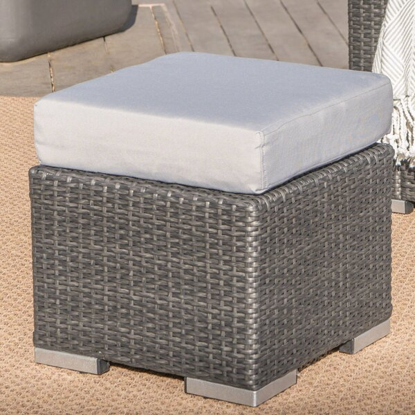 Norfolk Outdoor Ottoman with Cushion by Bay Isle H