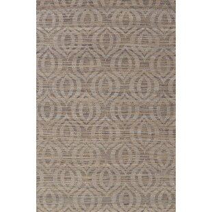 Harner Organic Hand-Knotted Wool Taupe Area Rug by World Menagerie