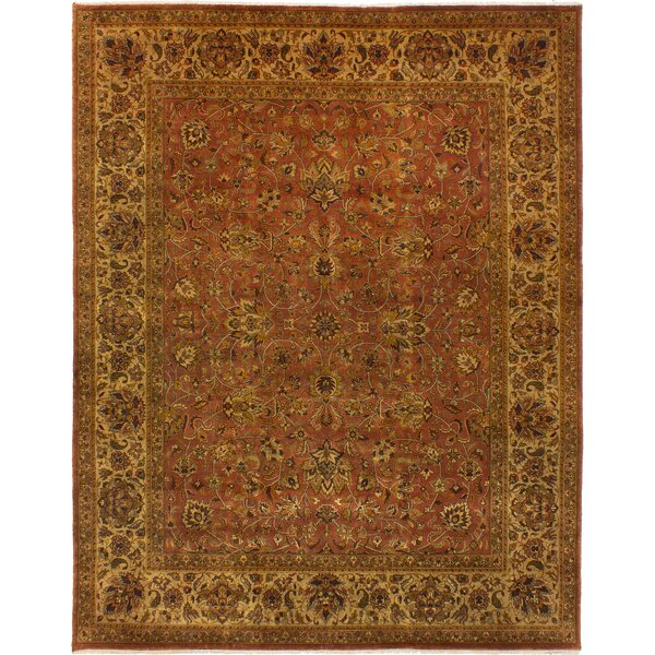 One-of-a-Kind Kenmar Hand-Knotted Wool Red/Ivory Area Rug by Darby Home Co