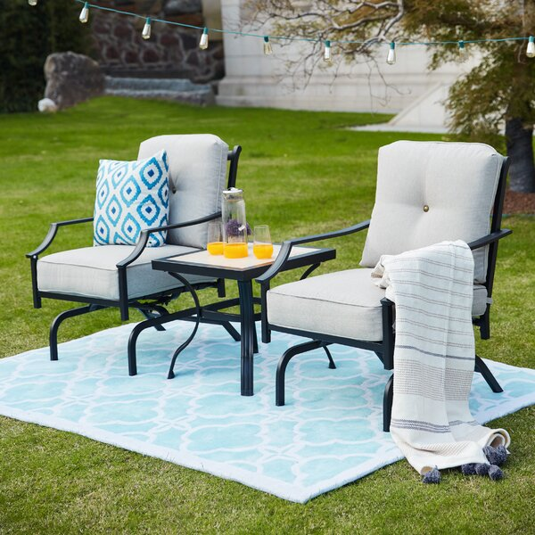 Strawn 3 Piece Seating Group with Cushions