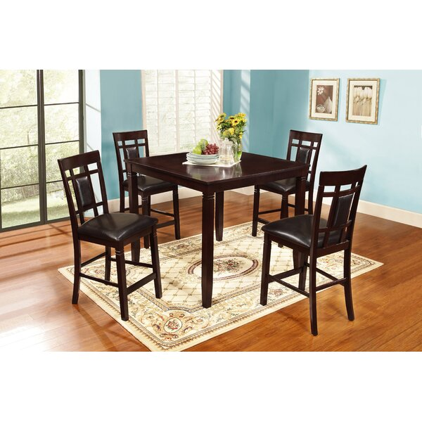 Delphos 5 Piece Counter Height Dining Set by Winston Porter Winston Porter