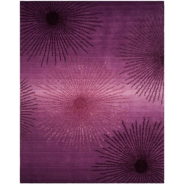 Beaufays Hand-Tufted Purple Area Rug by Mercer41