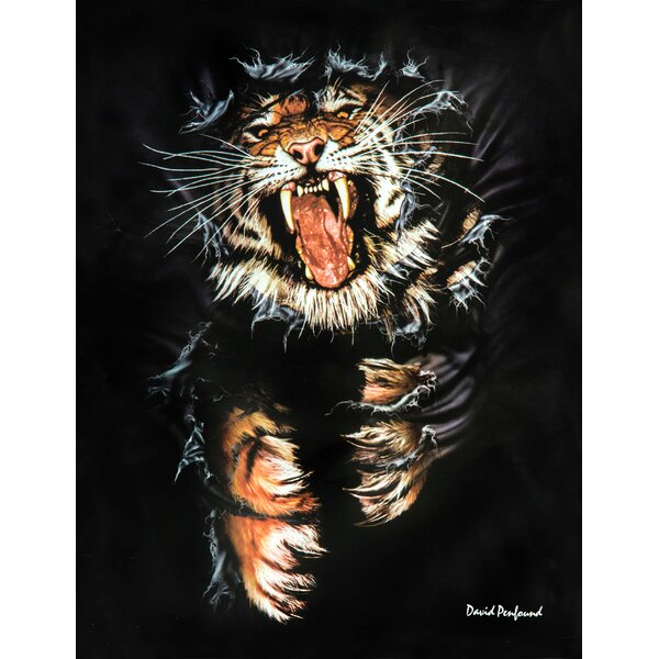 Tiger Signature Blanket by East Urban Home