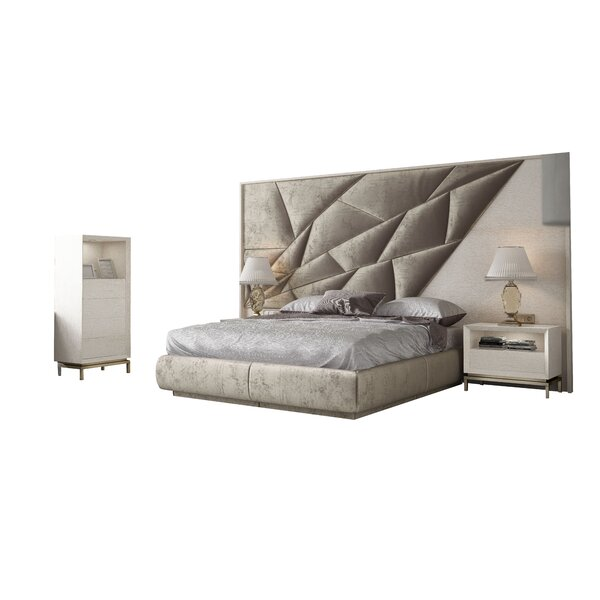 Helotesc King 4 Piece Bedroom Set by Orren Ellis