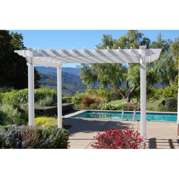 Queensbrook 10 Ft. W x 10 Ft. D Vinyl Pergola by Dura-Trel