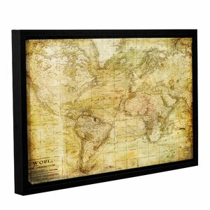 Vintage Map Framed Graphic Art on Wrapped Canvas by Alcott Hill
