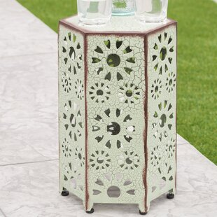 Look for Bales Outdoor Iron End Table ByEbern Designs