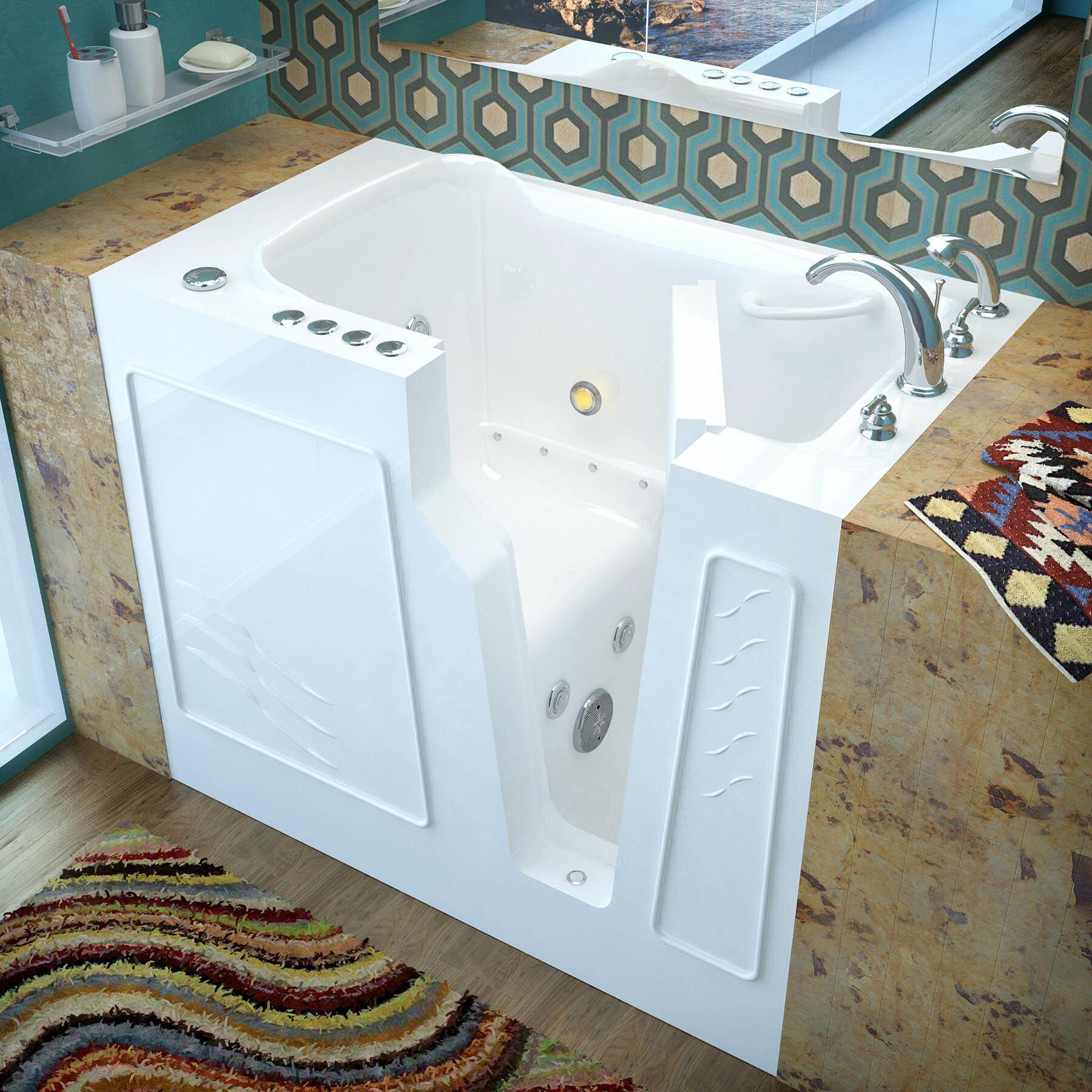 Therapeutic Tubs Prairie 45 8 X 26 Walk In Air Whirlpool Bathtub Wayfair