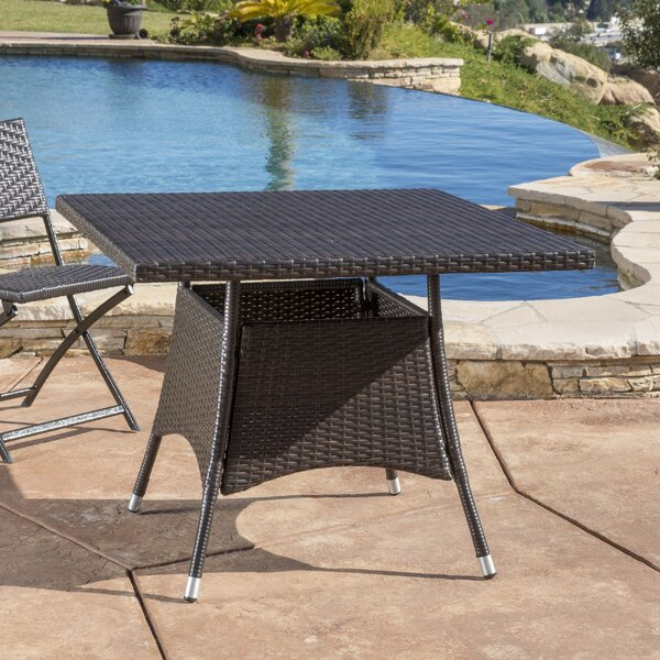 Brissette Outdoor Wicker Bistro Table by Orren Ellis