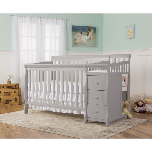 Brody 5-in-1 Convertible Crib and Changer Combo by