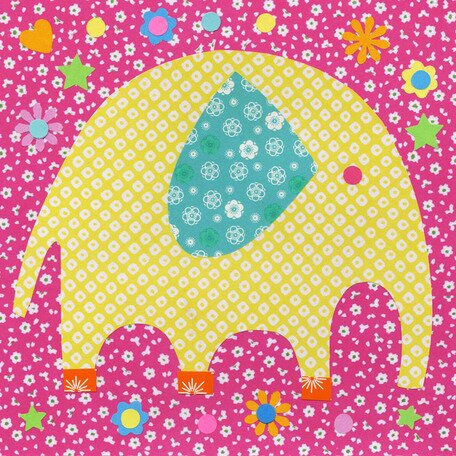 Perfectly Patterned Elephant Canvas Art by Oopsy Daisy