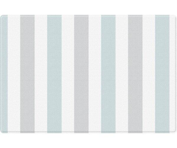 Traveling/Mint Stripe Pure Soft Floor Mat by Parklon
