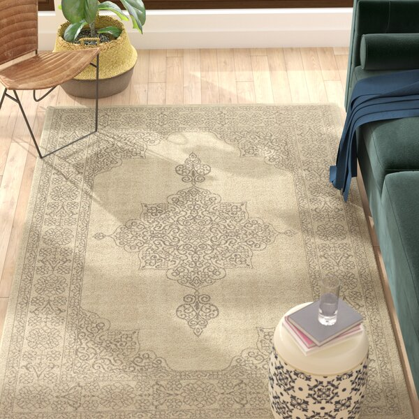 Holmes Flat Woven Wool Natural Area Rug by Bloomsbury Market