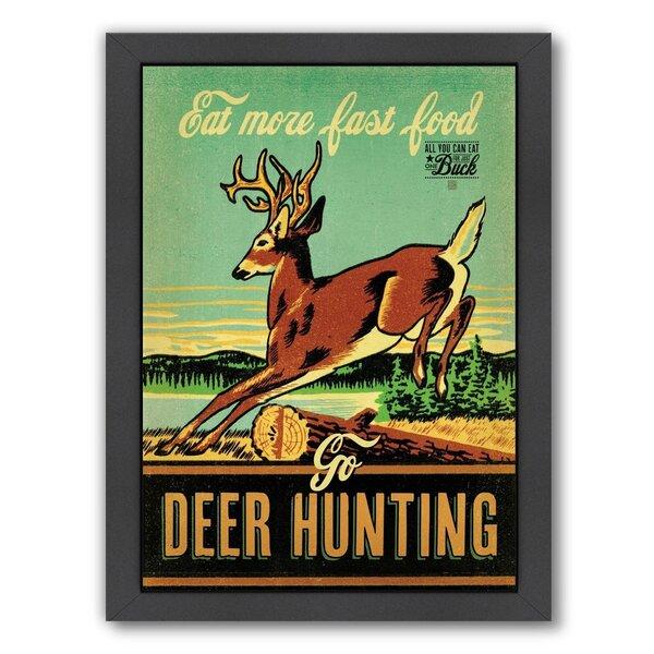 Fast Food Deer Hunting Framed Vintage Advertisement by East Urban Home