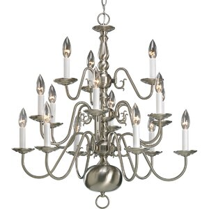 Doyle 15-Light Candle-Style Chandelier