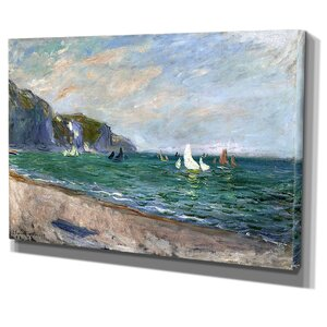 'Sailboats Near the Sea' by Claude Monet Painting Print on Wrapped Canvas by Wexford Home