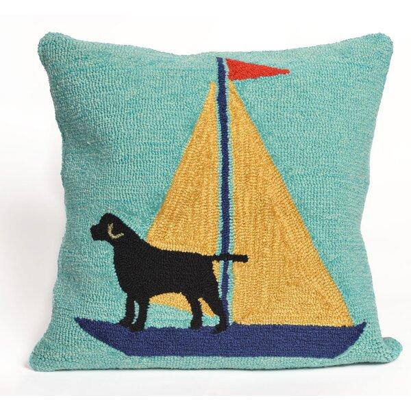 Walton Sailing Dog Throw Pillow by Breakwater Bay