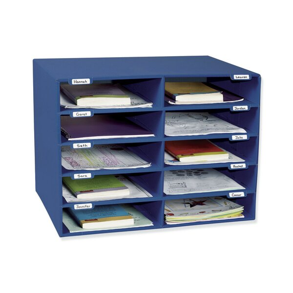 Mail Box Stackable 10 Compartment Shelving Unit with Doors by Pacon Corporation