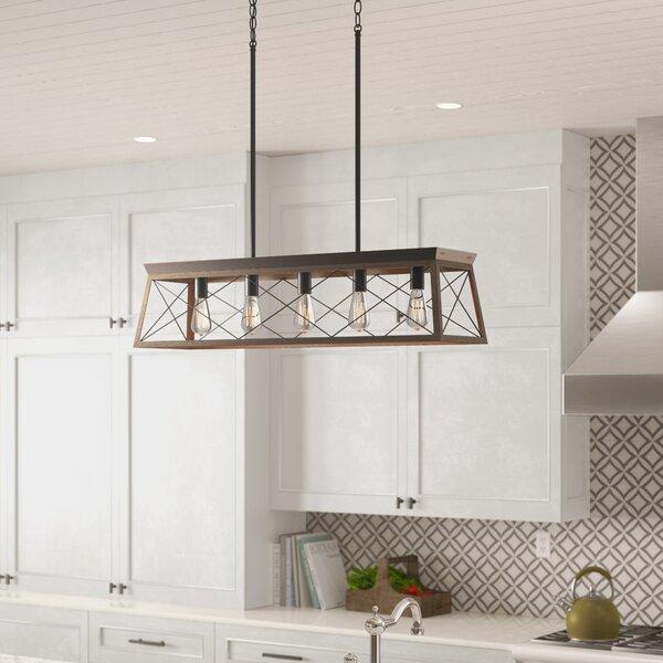 Delon 5-Light Kitchen Island Pendant by Laurel Fou