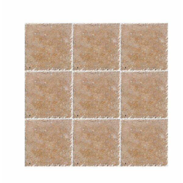 Noce Chiseled 6 x 6 Travertine Marble Look Wall & Floor Tile