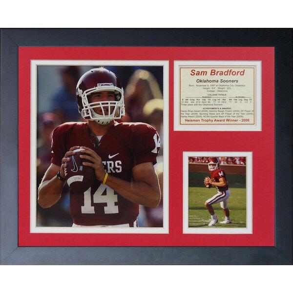 Sam Bradford - Oklahoma Away Framed Memorabilia by Legends Never Die
