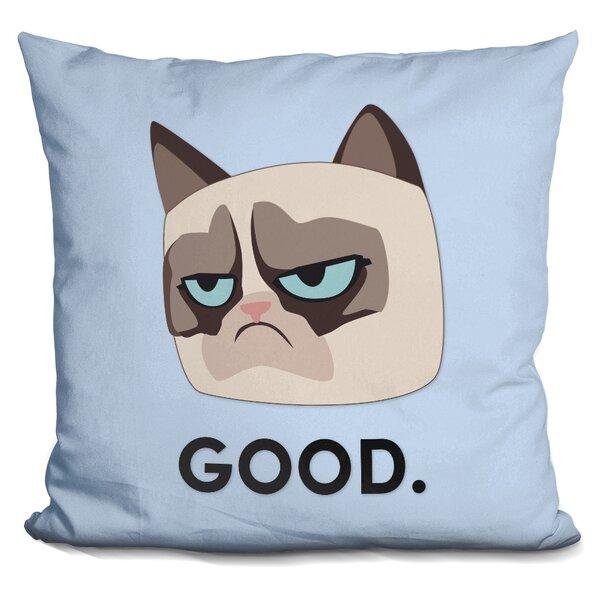 Good Grumpy Cat Throw Pillow by LiLiPi