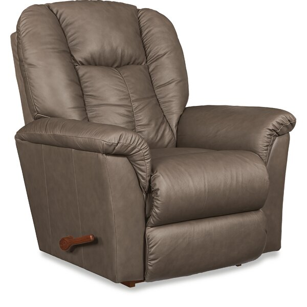 Jasper Leather Manual Rocker Recliner by La-Z-Boy