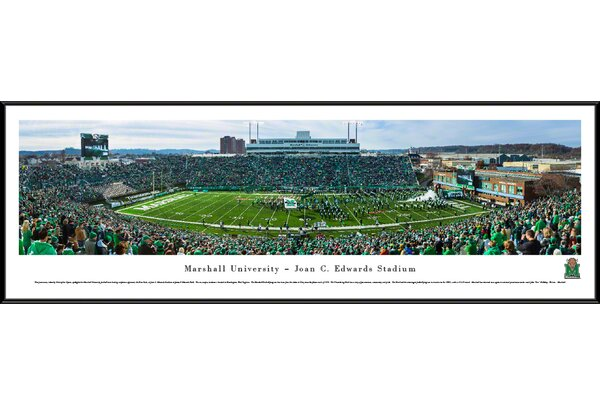 NCAA Marshall University Football, End Zone by Christopher Gjevre Framed Photographic Print by Blakeway Worldwide Panoramas, Inc