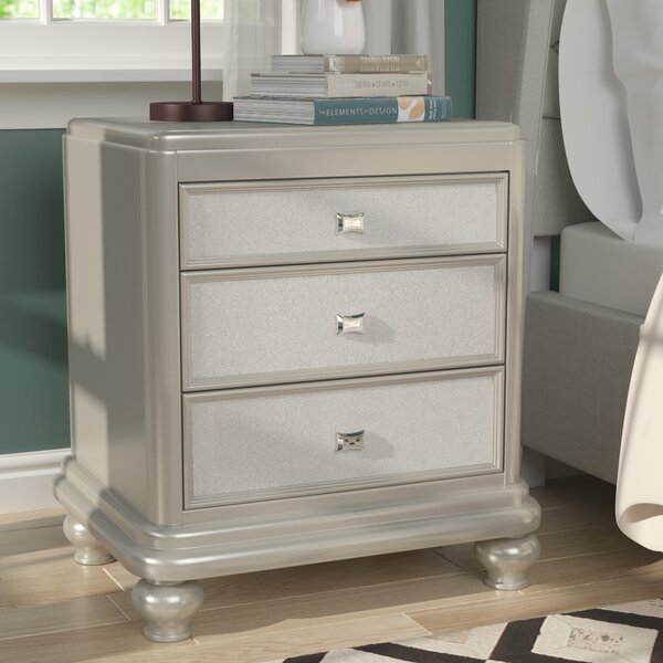 Guillaume 3 Drawer Nightstand by Willa Arlo Interiors