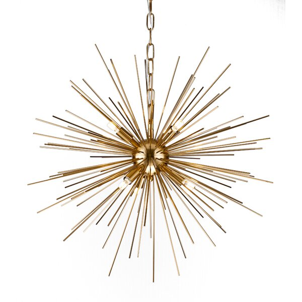 Kamila Iron Spike Fixture 6-Light Chandelier by Co