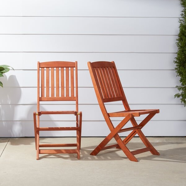 Amabel Folding Patio Dining Chair (Set of 2) by Beachcrest Home Beachcrest Home