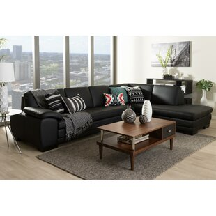 Baxton Studio Leather Sectional