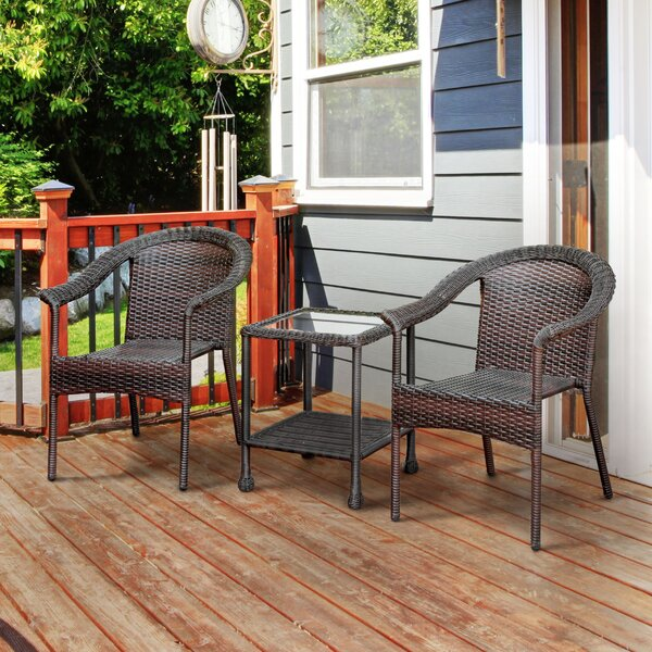 Oliv 3 Piece Seating Group by Winston Porter