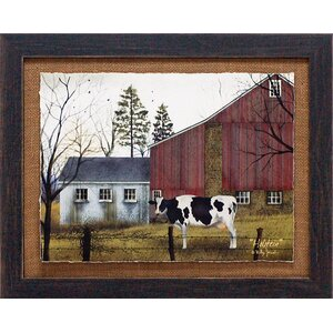 'Holstein Country Farm Landscape' by Billy Jacobs Framed Photographic Print by Artistic Reflections