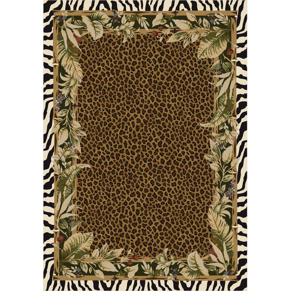 Signature Jungle Safari Emerald Area Rug by Milliken