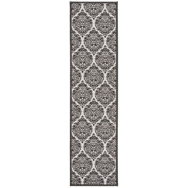 Burnell Boho Light Gray Area Rug by Darby Home Co
