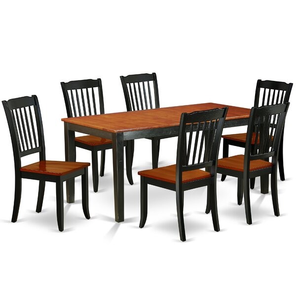 Laga 7 Piece Extendable Solid Wood Dining Set by August Grove