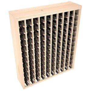 Karnes Pine Deluxe 120 Bottle Floor Wine Rack