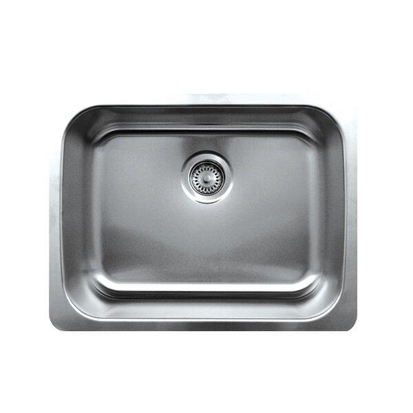 Noah 23.5 L x 18.25 W Single Bowl Undermount Kitchen Sink by Whitehaus Collection