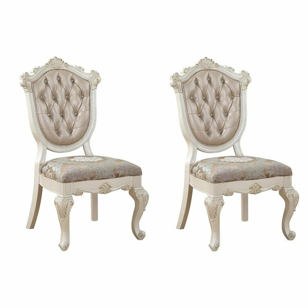 Alarice Tufted Upholstered Arm Chair in Silver (Set of 2) by Rosdorf Park Rosdorf Park
