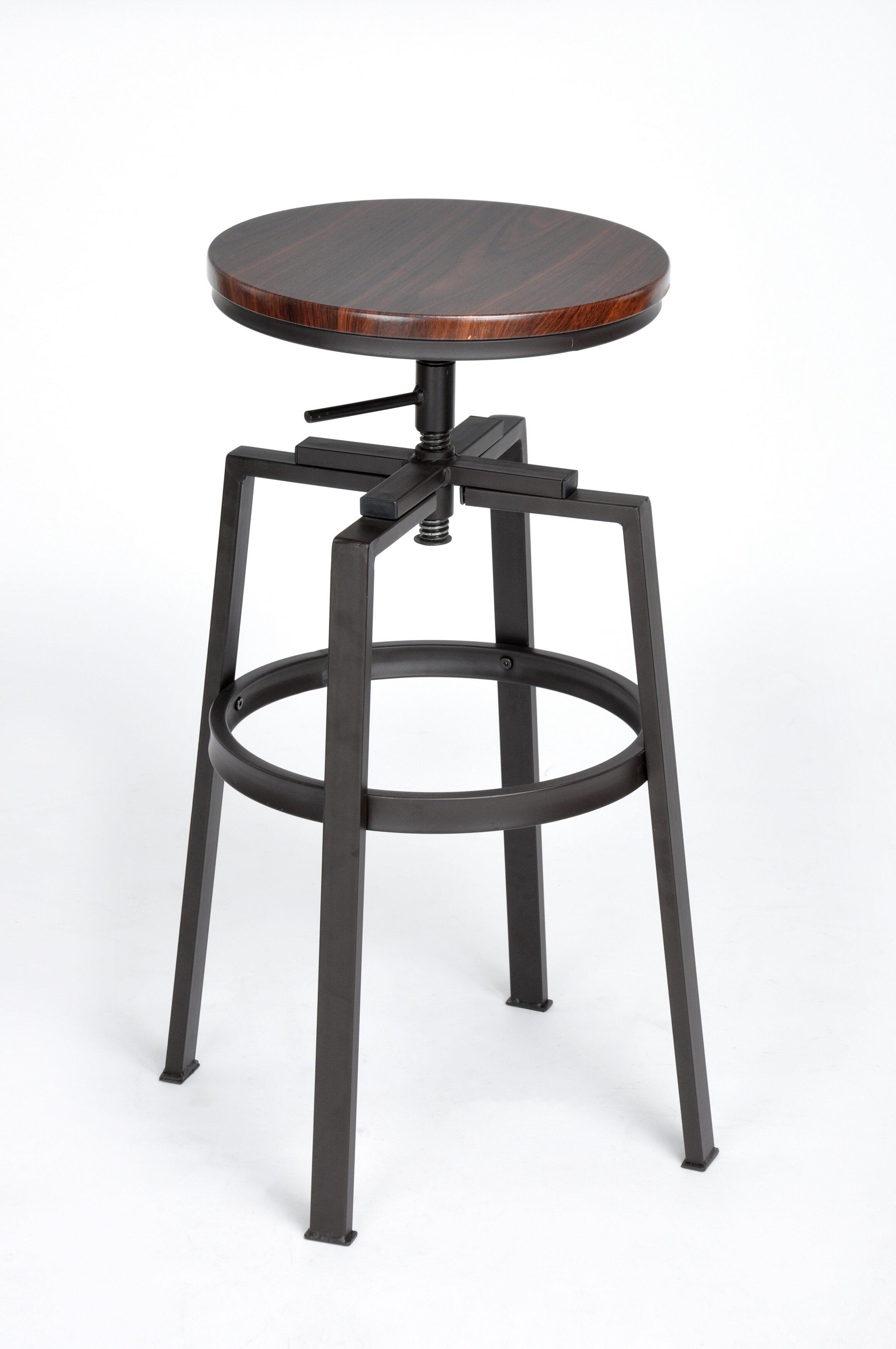 Sensational Gracie Oaks Garrett Adjustable Height Bar Stool Reviews Cjindustries Chair Design For Home Cjindustriesco