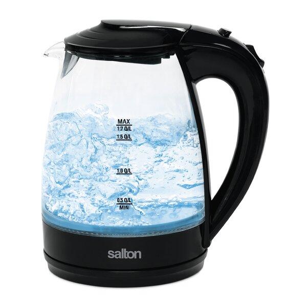1.7 Qt. Glass Cordless Electric Tea Kettle by Salton