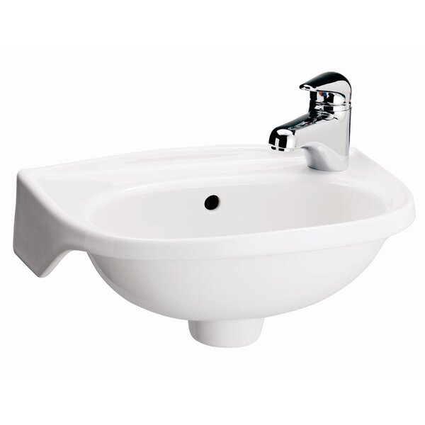 Tina Vitreous China 16 Wall Mount Bathroom Sink with Overflow by Barclay