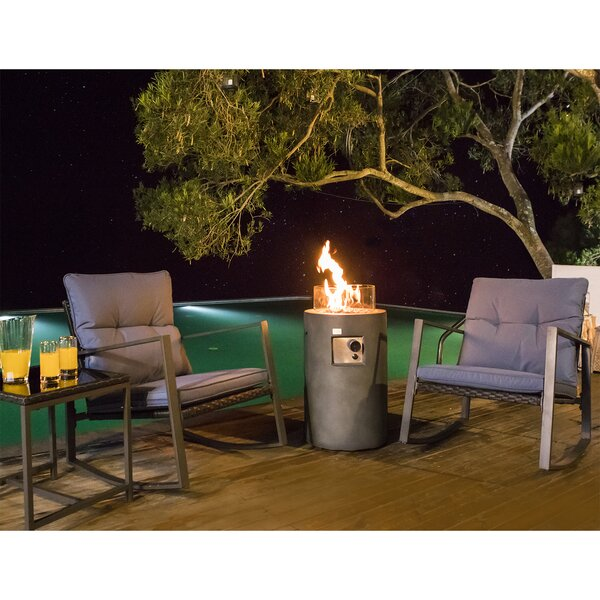 Brookford Propane 4 Piece Wicker/Rattan Seating Group with Cushions by Brayden Studio